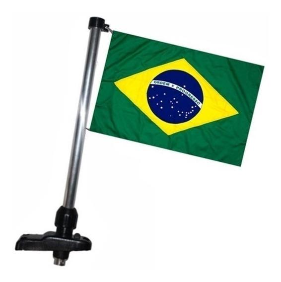 Mastro Porta Bandeira Do Brasil P/ Barcos Lanchas Cor Preta