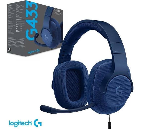 Headset Gamer Logitech G433 7.1 Azul Ps4 Pc Switch Xbox