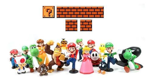 Mario Bros Paquete 17 Figuras Coleccionables