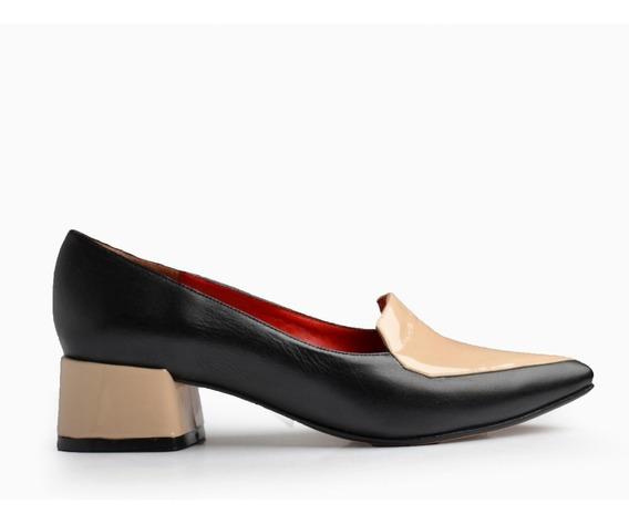 Zapatos De Cuero Y Charol De Mujer Roma - Ferraro -