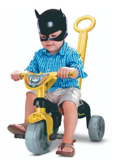 Triciclo Infantil Motoca Velotrol Herois Oficial Haste