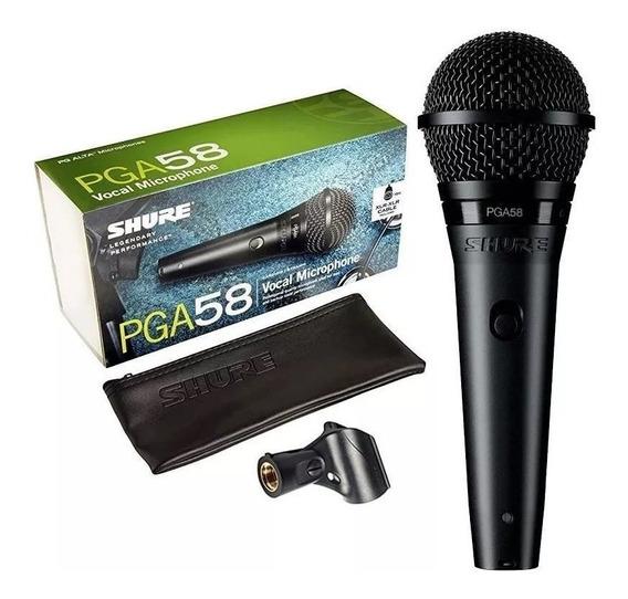 Microfone Shure Pga58 Pga Com 2 Anos De Garantia
