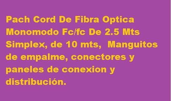 Remato Material Y Cables Fibra Optica