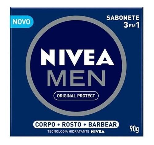 Imagem 1 de 1 de Sabonete Em Barra Nivea Men 3 Em 1 90g - 0982