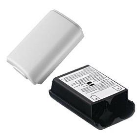 10 Porta Pilas Caja Baterias Tapa Control Xbox 360 + Disco