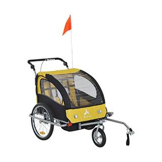 Aosom Elite Ii 3in1 Double Child Bike Trailer,