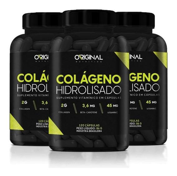 Combo 3x Colágeno Hidrolisado 120 Cáps - Original Nutrition