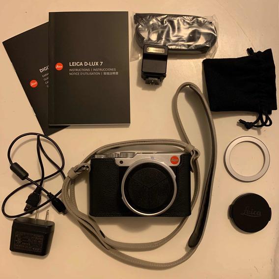 Leica D-lux 7+tampa Autom.+alça+capa - Como Nova Na Garantia