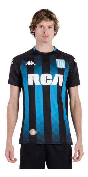 Camiseta Racing Club 2019 Away Azul Hombre Kappa