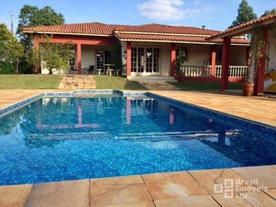 Chácara Com 3 Dormitórios À Venda, 2800 M² Por R$ 850.000 - Condomínio Monte Verde - Itu/sp - Ch0096