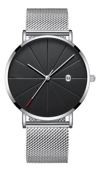 Relógio Aço Casual Luxo Feminino