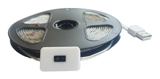 Tira Led Con Sensor Movimiento Closet Baño Gabinetes 4 M