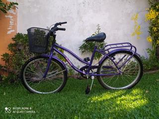 Bicicleta Playera, Rodado 24, Cómo Nueva