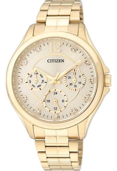 Relógio Feminino Citizen Tz28360g Aço Dourado