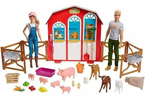 Barbie Sweet Orchard Farm Gramp Playset Con Muñecas Barbie Y