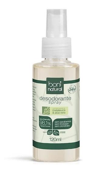 Desodorante Spray Natural Melaleuca E Toranja 120ml Boni Natural