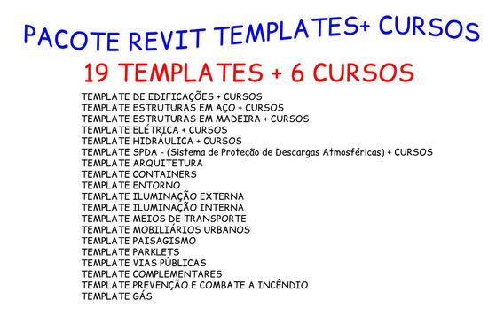 Pacote Revit Templates + Cursos Promoção