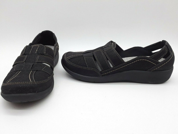 Clarks Cloud Sillian Zapato Confortable Negro Talla 23.5 Mex
