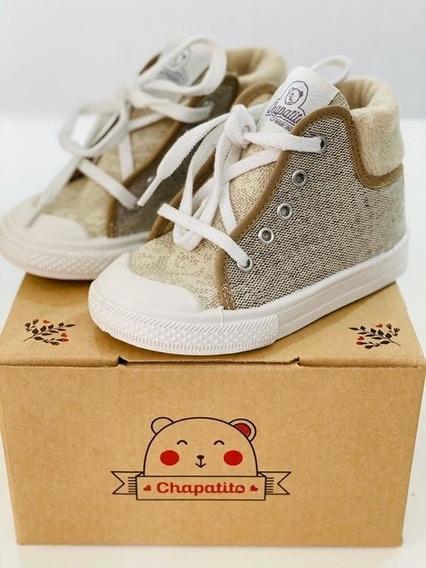 Chapatito Zapatillas Con Cordón Botitas Niños/niñas