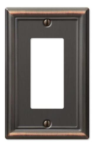 Placa De Pared (acero, Tono Bronce Envejecido) Interruptor