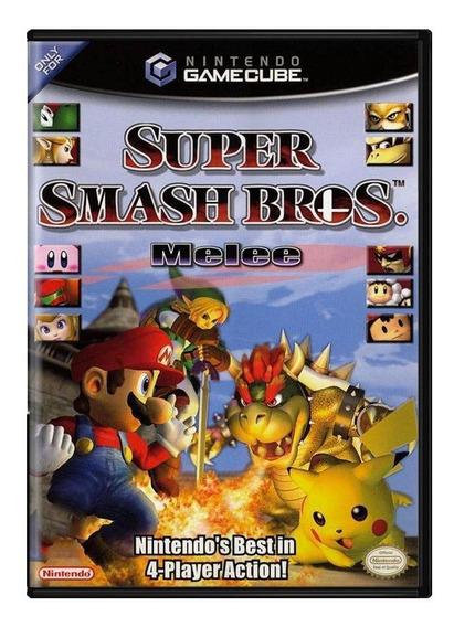 Super Smash Bros Melee Gc Gamecube Mídia Física