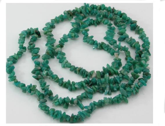 Cascalho Amazonita Russa Verde Miudo Fio 84cm Teostone 420
