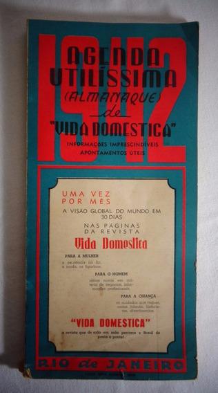 Almanaque Vida Domestica Calendário Propaganda 1942
