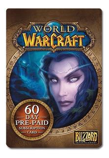 Tarjeta World Of Warcraft Time 60 Días | Gamer24hs