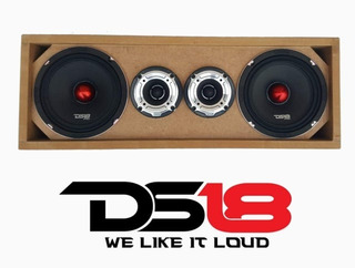 Ds18 Medios Pro 6.5 - Tweeter Pro Tw120- Cajón De Regalo