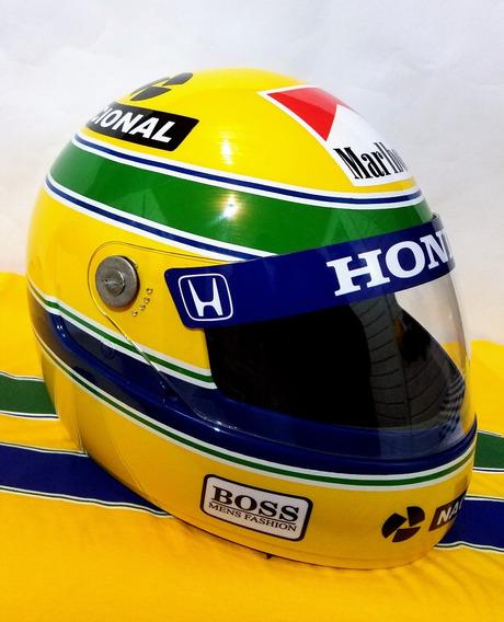 Capacete Ayrton Senna +adesivos De Brinde!