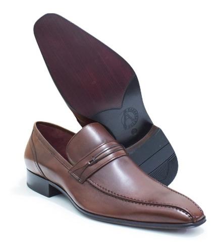 Sapato Social Albanese 100% Couro | Mouro | Feito À Mão