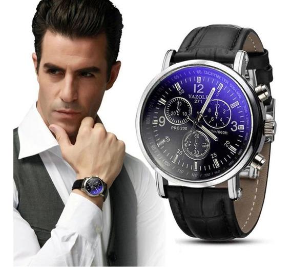 Relógio Masculino Luxo Geneva Pulso Social Pulseira Couro