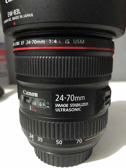 Canon 24-70mm 4l Is Muito Nova(leia Descrição)