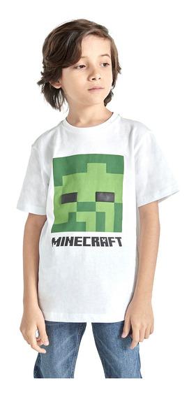 Playera Manga Corta Minecraft De Niño C&a (3006533)