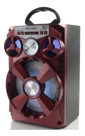Caixa De Som Portátil Amplificada Usb Mp3 Radio Fm 300w E2