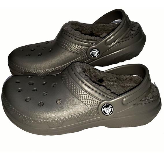 Crocs Con Corderito Lined Clog Niños Originales