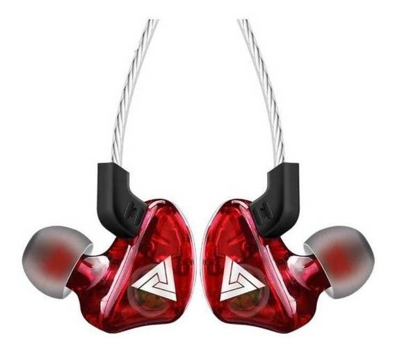 Fone de ouvido QKZ CK5 vermelho