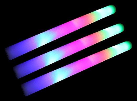 50 Pack De 18 Multi Color Espuma Baton Luz Led Palos - Camb