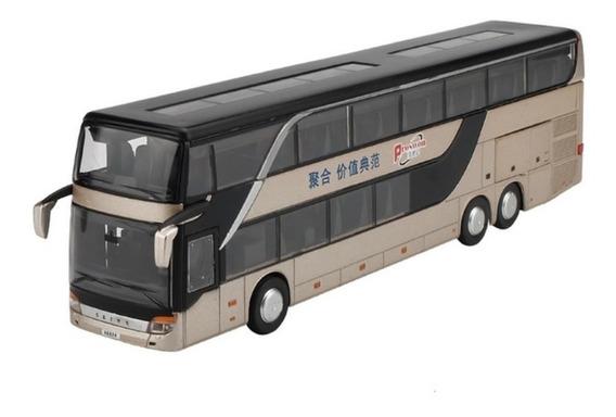 Ônibus De Turismo Grande Com Som E Luz Escala 1:32 Lindo