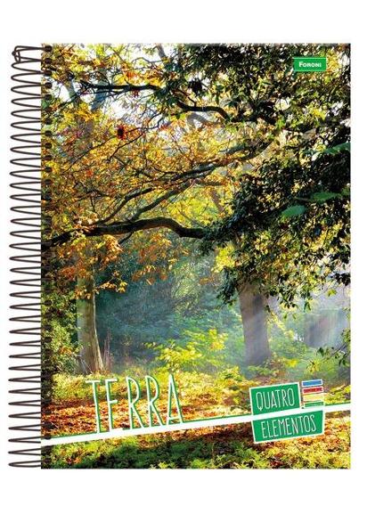 Caderno Universitário Espiral Capa Dura 1x1 96 Folhas Foron