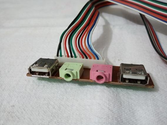 Placa Usb 2.0 Interna Para Gabinete Com Audio E Microfone
