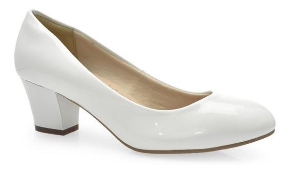 Sapato Scarpin Salto Médio Facinelli 62901- Cirandinha