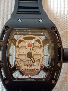 Relojes Richard M Skull Calavera Caja Transparente Italy