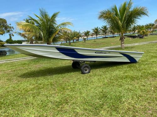 Embarcação De Alumínio Calaça Mod Flash Bass 500 De 5 M
