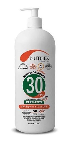 Protetor Bloqueador Solar C/ Repelente Fps30 1 Litro Nutriex