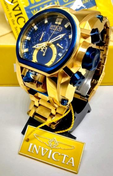 Relógio Masculino Bolt Zeus Magnum Banhado A Ouro