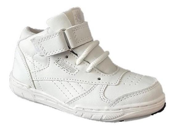 Tenis Bota Escolar Blanco Escolar Niño Niña Sneakers Cosido