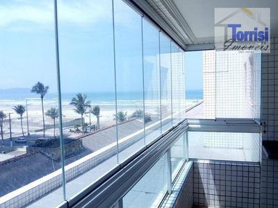 Apartamento Em Praia Grande, Vista Mar, 02 Dormitórios, Sendo 01 Suite, Lazer Completo Na Aviação Ap0152 - Ap0152