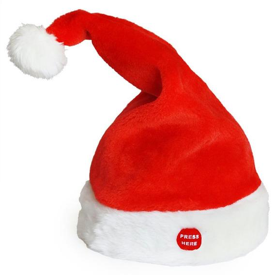 Gorro Papá Noel Con Movimiento Y Sonido