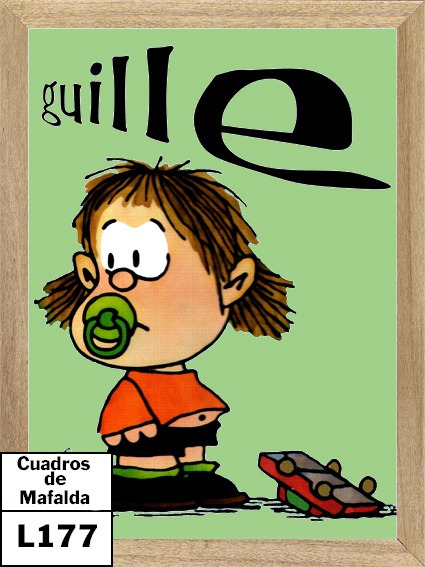 Mafalda Guille Cuadro Poster Cartel Comic L177